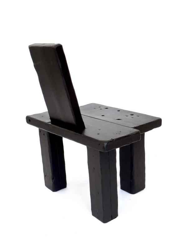 Blackened Contemporary Anthropological Collection Chair by Artist Hannah Vaughan, 2017 For Sale