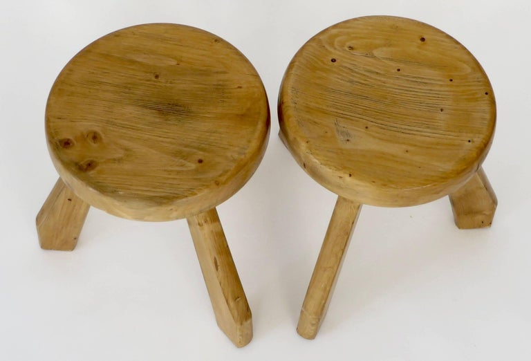 Pair of Sandoz Stools for Les Arcs Ski Resort Charlotte Perriand, France 9