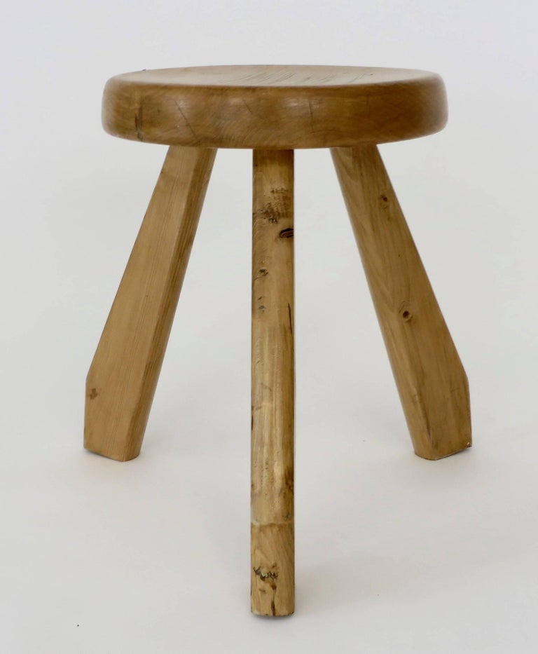 Pair of Sandoz Stools for Les Arcs Ski Resort Charlotte Perriand, France 7