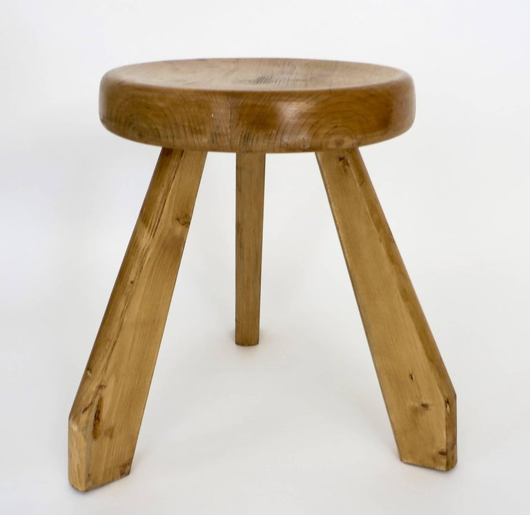 Pair of Sandoz Stools for Les Arcs Ski Resort Charlotte Perriand, France 5