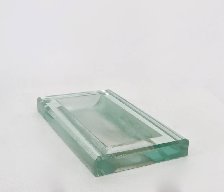 Glass Art Deco Vide Poche by French Designer Jean Luce 7