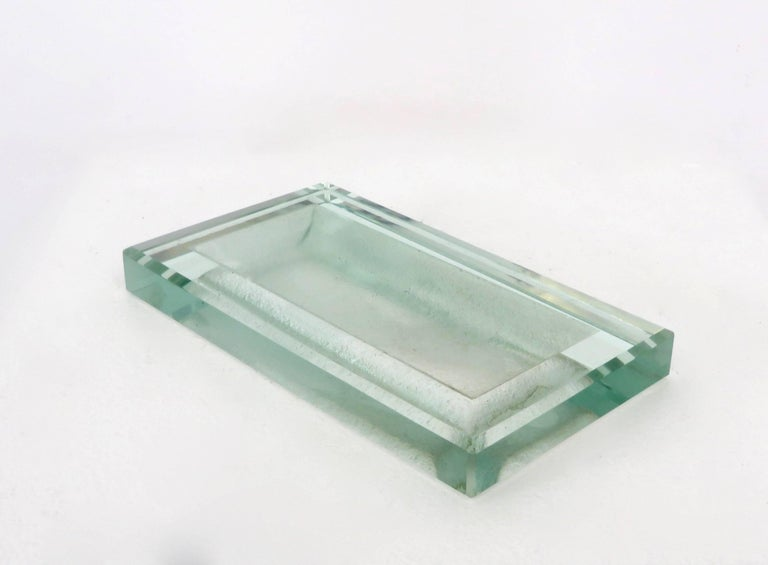 Glass Art Deco Vide Poche by French Designer Jean Luce 9