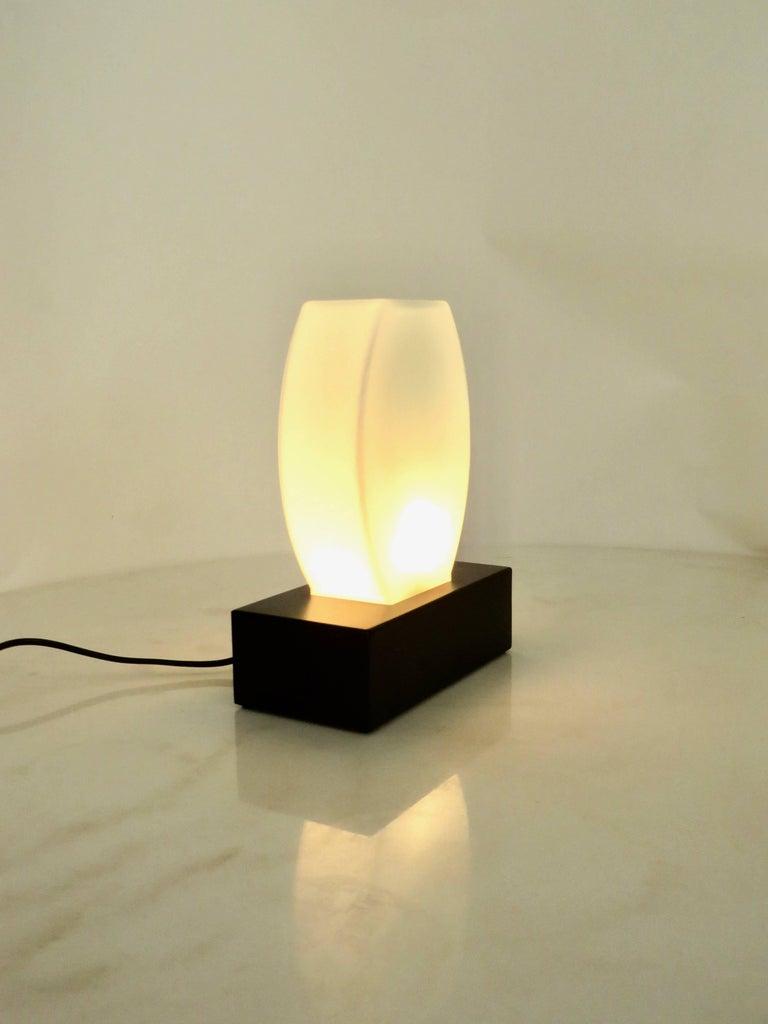 Mid-Century Modern Murano Glass Table Lamp Dorane by Ettore Sottsass for Stilnovo For Sale
