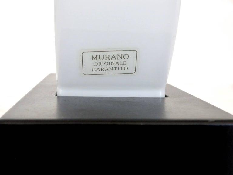 Murano Glass Table Lamp Dorane by Ettore Sottsass for Stilnovo For Sale 1
