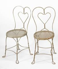 Collection of Nine American Metal Cafe Chairs