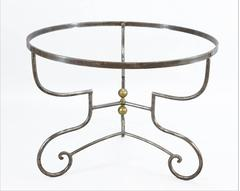 Handsome Steel and Brass Centre Table Frame, Great Color and Patina