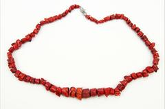 Stunning Coral Necklace, Great Color.