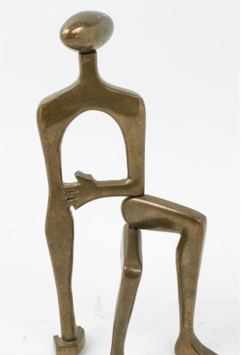 Mid-Century Modern Midcentury Brass Sculpture Arleen Eichengreen and Nancy Gensburg For Sale