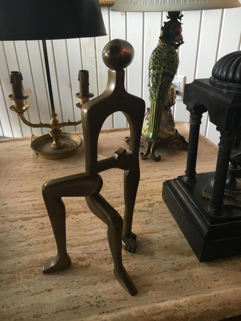 20th Century Midcentury Brass Sculpture Arleen Eichengreen and Nancy Gensburg For Sale