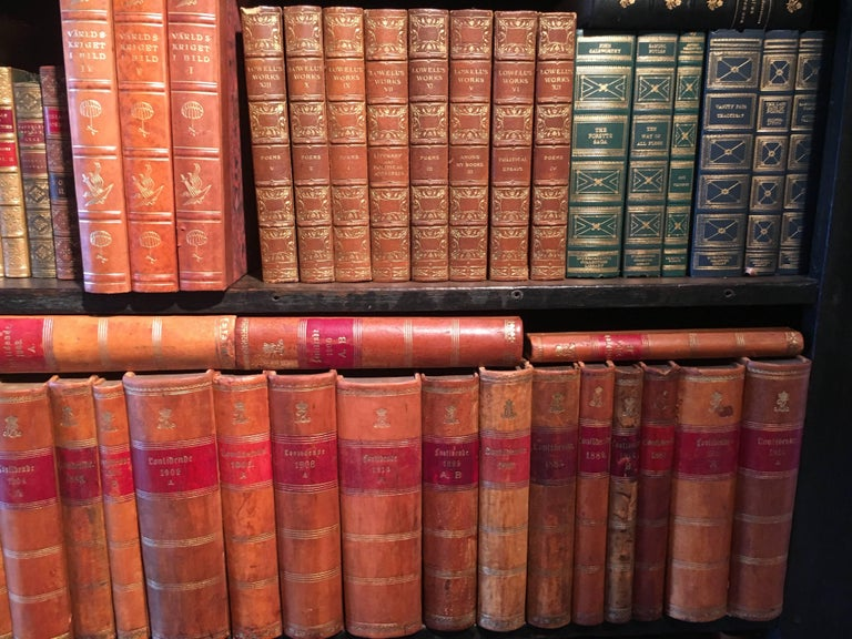 New Shipment Of Assorted Leather Bound Books, Priced Per Book.  For Sale 2