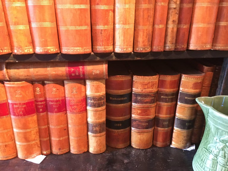 New Shipment Of Assorted Leather Bound Books, Priced Per Book.  For Sale 6