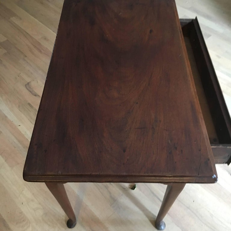 18th Century American Mahogany Tea Table, Great Size and Form For Sale 1