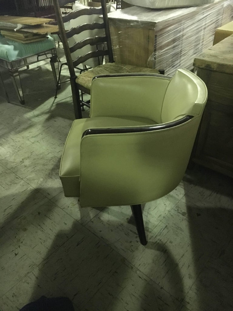 Very Chic Art Deco Style Armchair or Desk Chair In Excellent Condition For Sale In Buchanan, MI