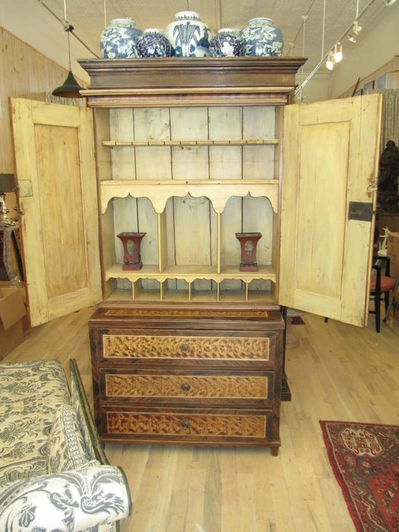 Exceptional American Faux Bois Step Back Cupboard, circa 1840 3