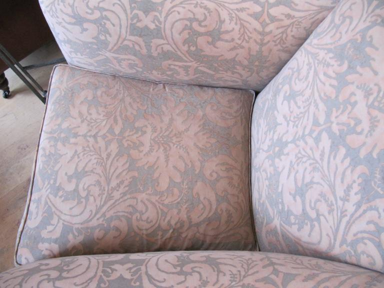 Exceptional Pair of Rose Tarlow Armchairs Covered in Fortuny Fabric 5