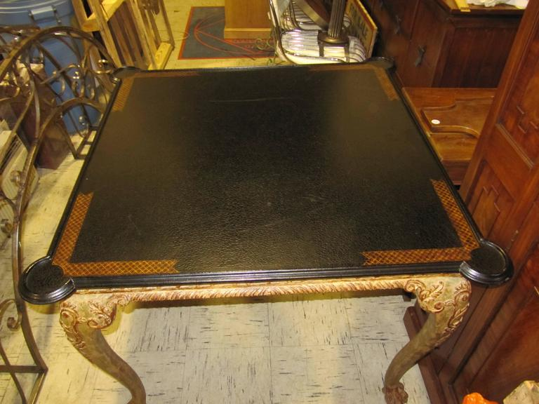 William Switzer Gilt Wood Card Table 2