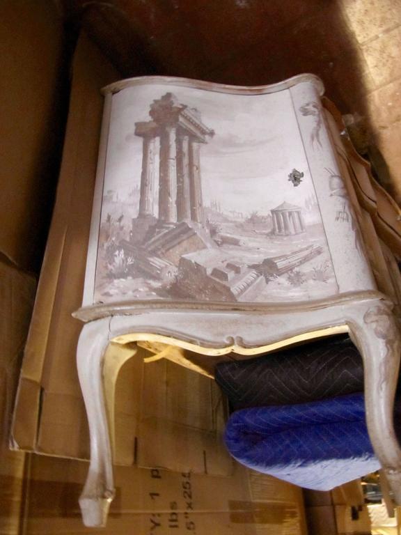 Italian Trompe L 'Oeil Sideboard In Excellent Condition For Sale In Buchanan, MI