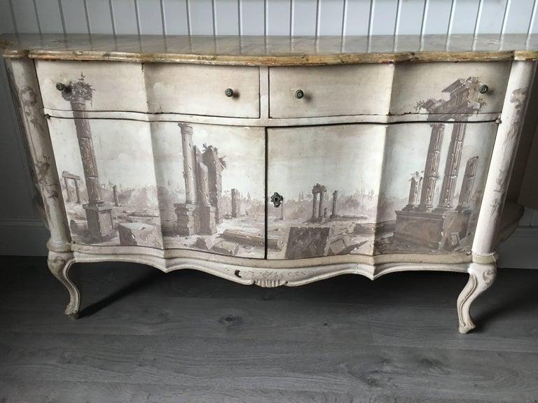 Italian Trompe L 'Oeil Sideboard For Sale 3