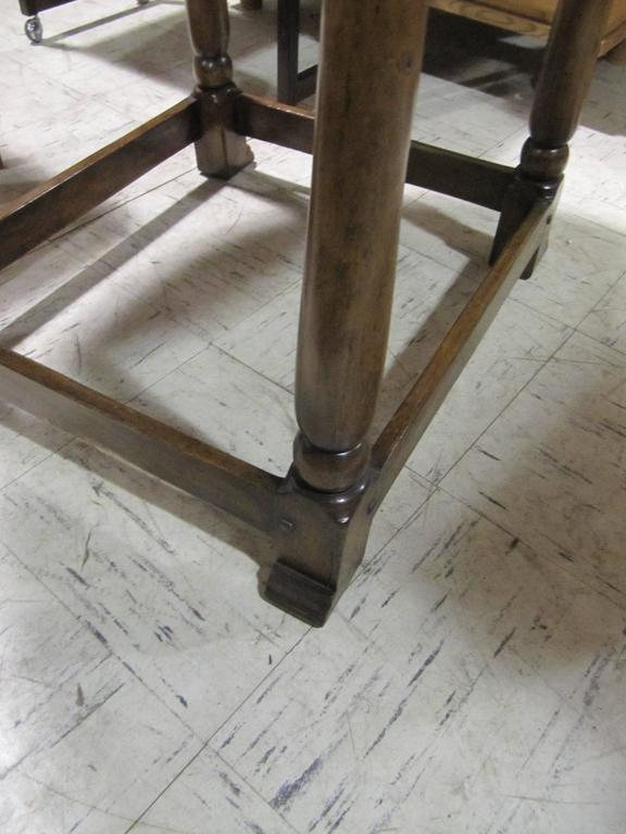 Handsome English Handcrafted Oak Tavern Table 4
