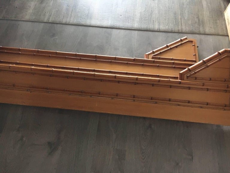 19th Century English Pine Faux Bamboo Bed Frame For Sale 5