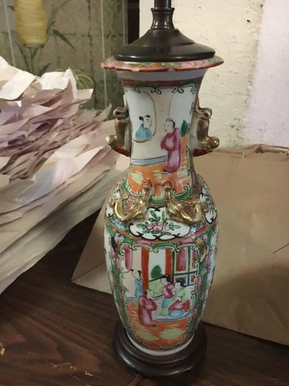 Three 19th Century Vases Mounted as Lamps In Excellent Condition For Sale In Buchanan, MI