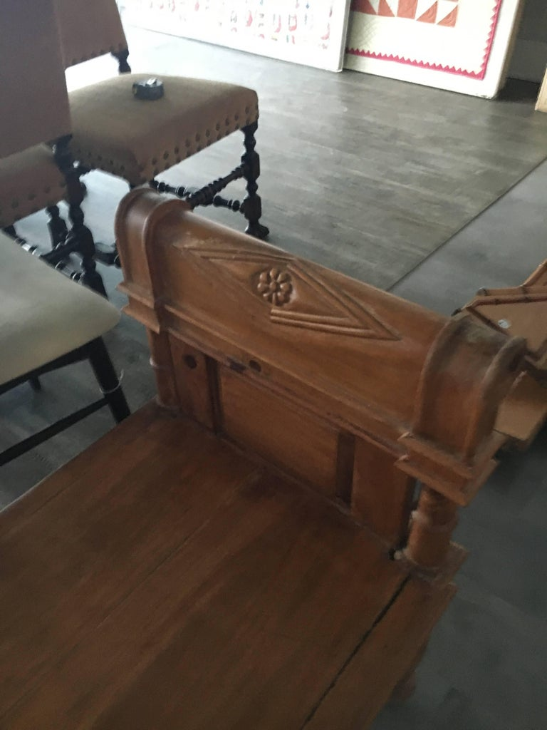 Northern Irish Handsome Directoire Irish Pine Window Bench or Bench for Foot of Bed For Sale