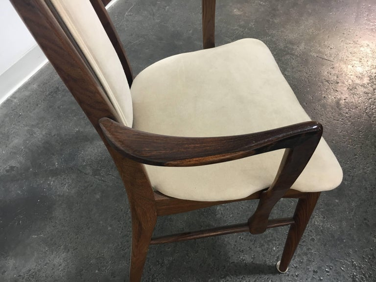 Niels Koefoed, Koefoeds Hornslet, Mid Century, Rosewood with Cream Upholstery In Excellent Condition For Sale In Buchanan, MI