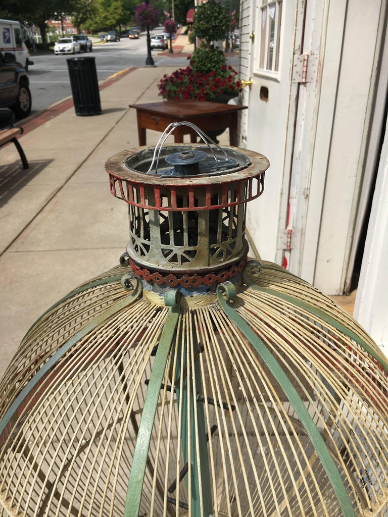 Whimsical and Fun Six-Arm Chandelier in the Form of a Hot Air Balloon / Birdcage For Sale 2