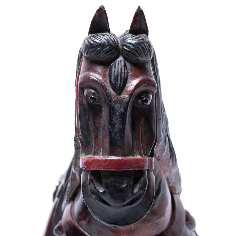 Pair of Lacquer Horses In Excellent Condition For Sale In Chicago, IL