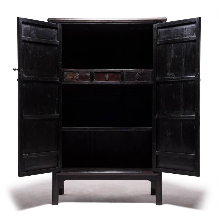 Qing Tall Chinese Greek Key Cabinet, c. 1850 For Sale