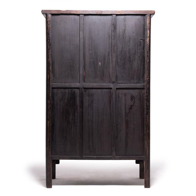 Tall Chinese Greek Key Cabinet, c. 1850 For Sale 2