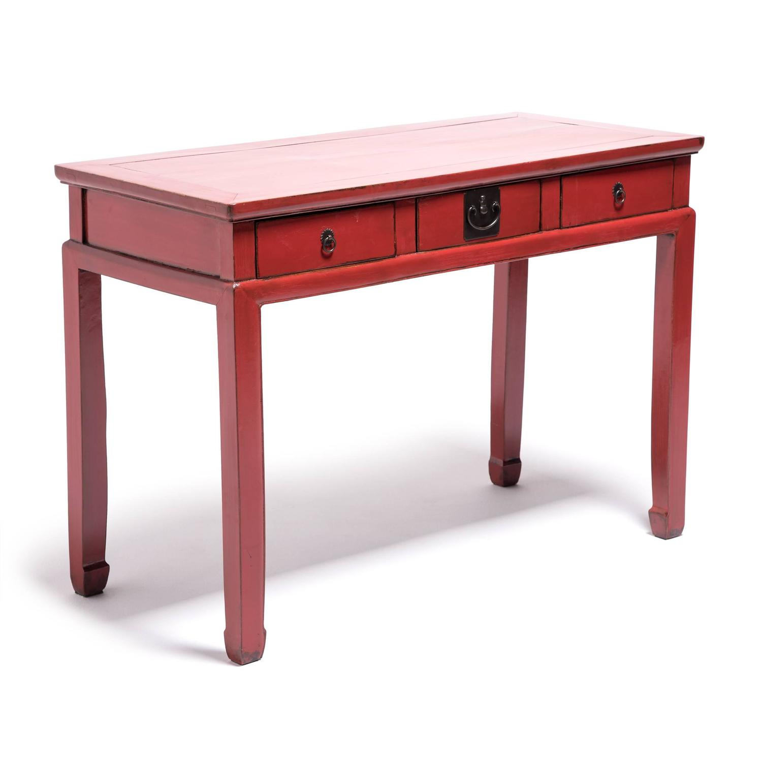 Red lacquer chinese desk for sale at 1stdibs for Table fifty two 52 w elm st chicago il 60610