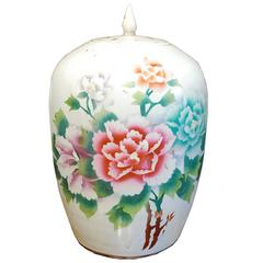 19th Century Chinese Floral Jar
