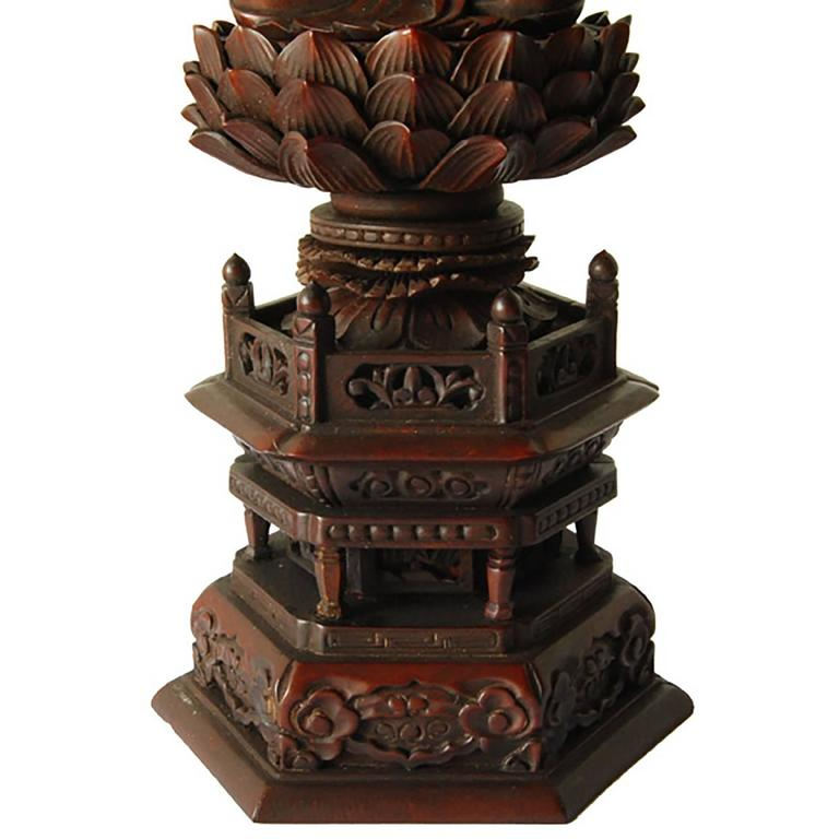Chinese Early 20th Century Guanyin on Lotus Throne For Sale