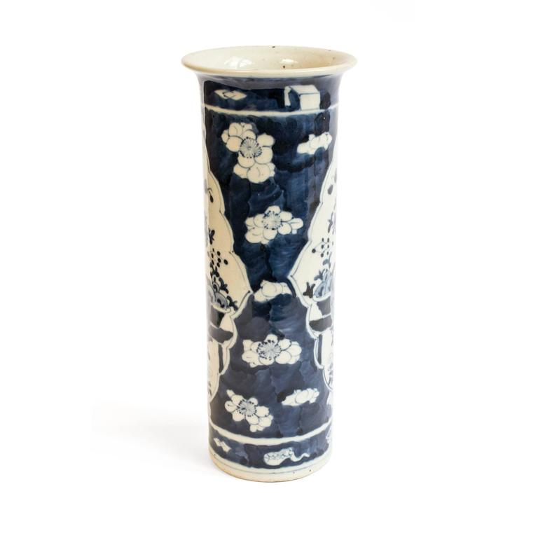 Republic Period Chinese Blue and White Vase with Flared Rim 5