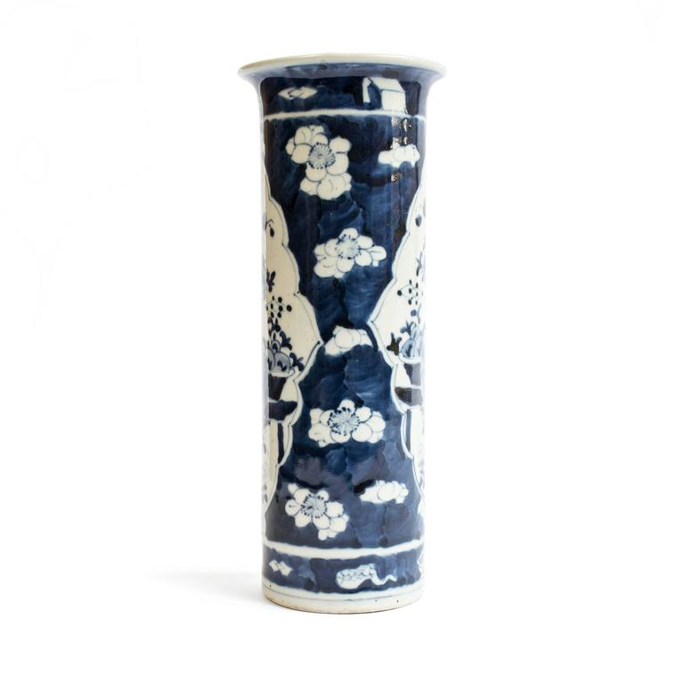 Republic Period Chinese Blue and White Vase with Flared Rim 3