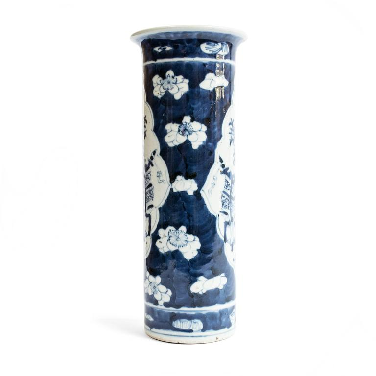 Republic Period Chinese Blue and White Vase with Flared Rim 4