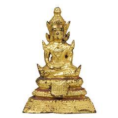 Early 20th Century Thai Gilt Buddha