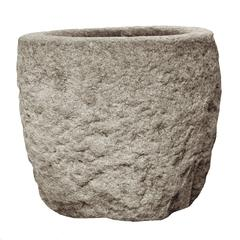 19th Century Chinese Stone Mortar Vessel