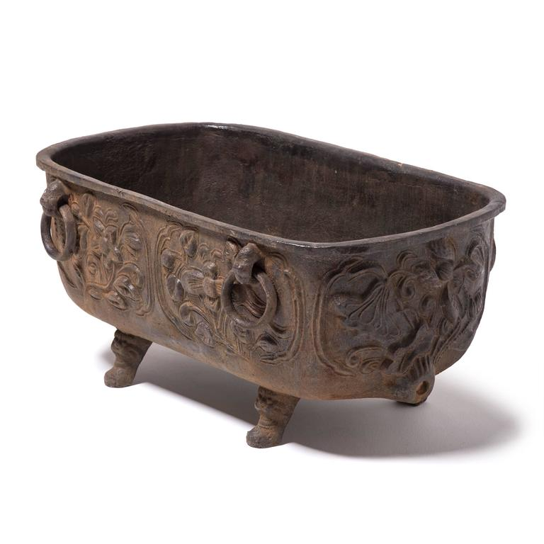 Chinese cast iron tub for sale at stdibs