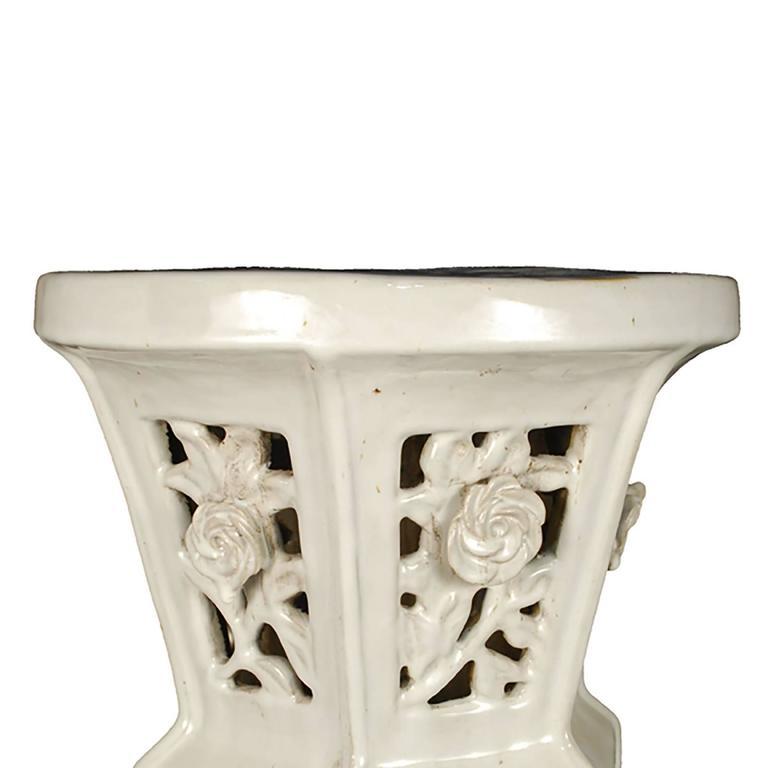 Chinese Ceramic Garden Pedestal For Sale At 1stdibs