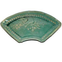 Chinese Ceramic Fan-Shaped Dish