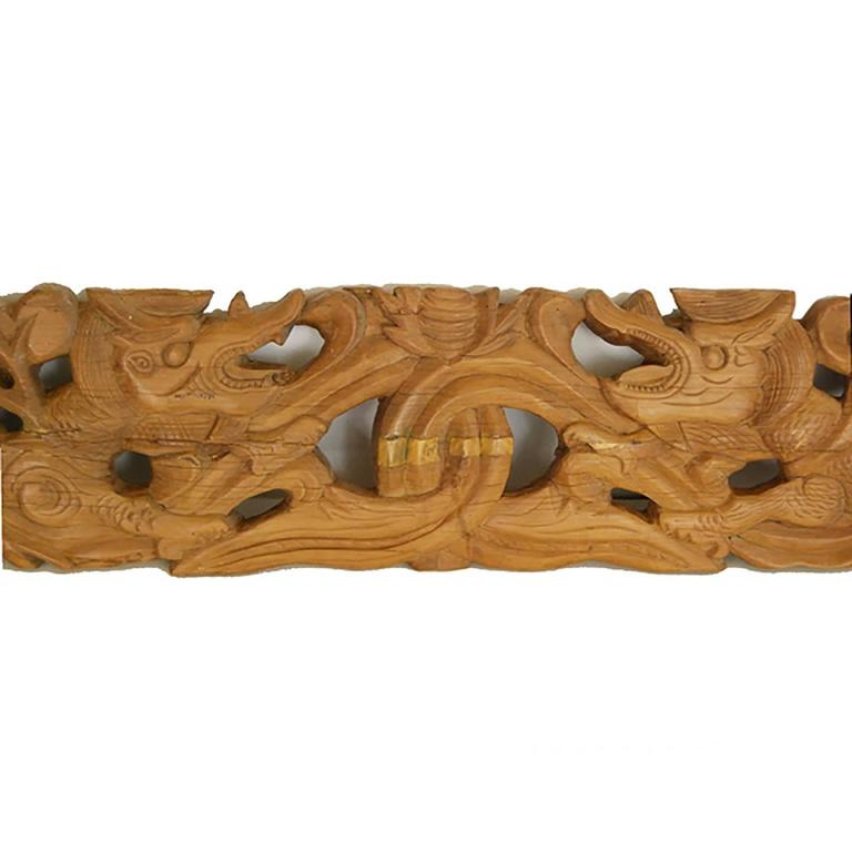 Chinese Double Dragon Architectural Valance 2