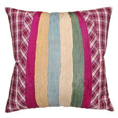 Pillow with Vintage Pleated Skirt and Japanese Plaid