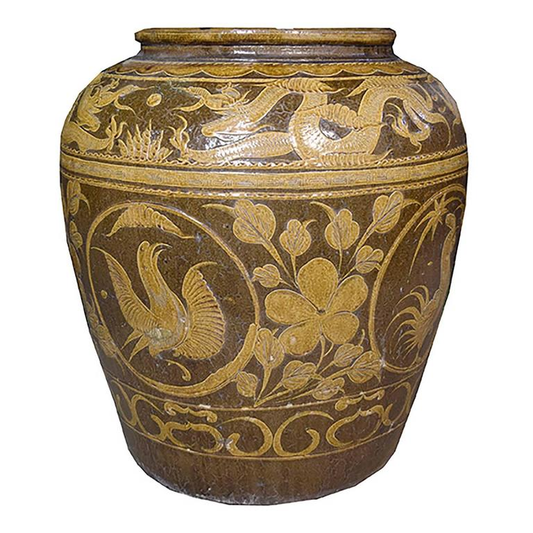 Qing Chinese Egg Jar For Sale