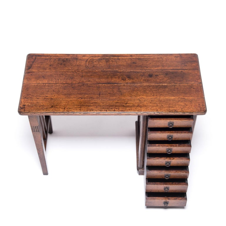 20th Century Chinese Petite Seven-Drawer Desk For Sale