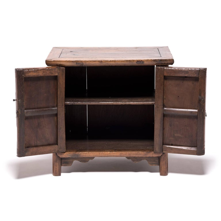 Chinese Two-Door Elmwood Chest 4