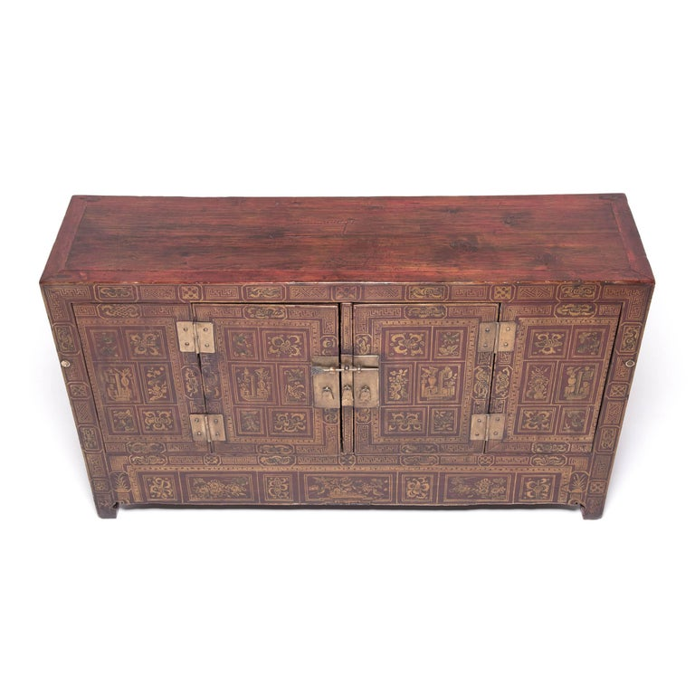 Chinese Square Corner Chest In Good Condition For Sale In Chicago, IL