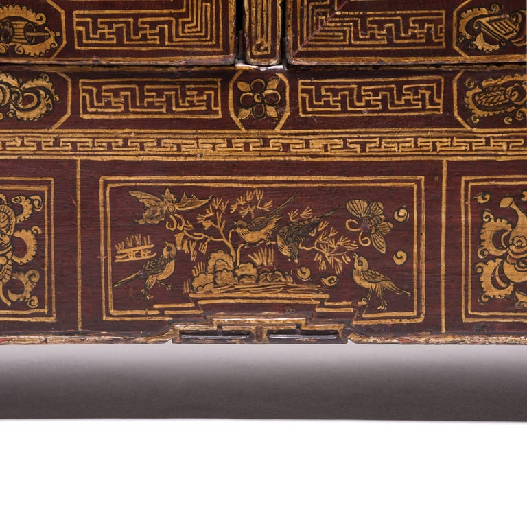 Chinese Square Corner Chest For Sale 1
