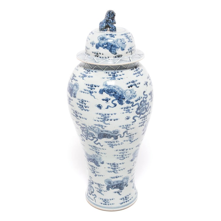 Monumental Chinese Blue and White Qilin Ginger Jar 4